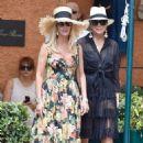 Kris Jenner in Black Dress on holiday on Portofino - 454 x 667