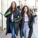 Gina Rodriguez and Rosario Dawson – On the 'Someone Great' set in NY - 454 x 661