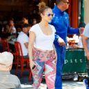 Jennifer Lopez in Leggings Out in New York City - 454 x 658