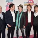 Lorne Michaels and Jimmy Fallon, and Keith Richards, Mick Jagger and Ronnie Wood of The Rolling Stones attend The Rolling Stones celebrate the North American debut of Exhibitionism at Industria in the West Village on November 15, 2016 in New York City - 454 x 302