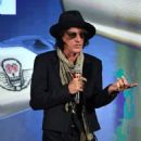 Joe Perry during a Monster Inc. press event for CES 2018 at the Mandalay Bay Convention Center on January 8, 2018 in Las Vegas, Nevada - 454 x 569