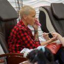 Amber Rose At Nail Salon In Studio City