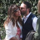 Eva Longoria and Jose Antonio Baston out for brunch with friends at Shutters in Santa Monica, Ca on February 16, 2014