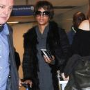 Halle Berry touches down at LAX in Los Angeles, California on December 11, 2016
