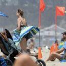 Helen Hunt in Black Bikini in Santa Monica