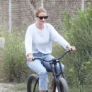 Rosie Huntington Whiteley at a park in Malibu