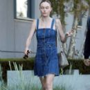 Kate Bosworth in Jeans Dress out in Hollywood - 454 x 681