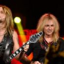 Richie Faulkner and Glenn Tipton of Judas Priest perform at the Nokia Theatre L.A. Live at Nokia Theatre L.A. Live on November 10, 2014 in Los Angeles, California - 454 x 299