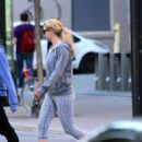Jennifer Lawrence Walking Her Dog In Montreal