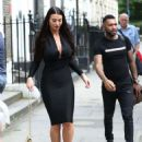 Alice Goodwin in Black Ttight Dress – Eexits 'Celebs Go Dating' with Jermaine Pennant in London - 454 x 638