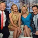 Model Candice Swanepoel visits 'FOX & Friends' at FOX Studios on December 8, 2014 in New York City