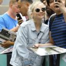 Emily Kinney – Arriving at AOL Build Series in New York City - 454 x 567