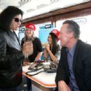 Gene Simmons and actor Robert Patrick attend The Nintendo Lounge on the TV Guide Magazine yacht during Comic-Con International 2015 on July 9, 2015 in San Diego, California.