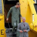 Prince Charles and Prince William at RAF Valley in United Kingdom (July 9)