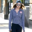 Gigi Hadid was spotted out and about in New York City, New York on May 10, 2016