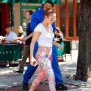 Jennifer Lopez in Leggings Out in New York City - 454 x 591