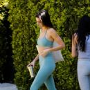 Kendall Jenner – In Yeezy Slides 'Bone' and gym workout ensemble in West Hollywood
