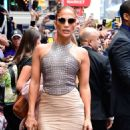 Jennifer Lopez is seen leaving Good Morning America