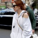 Lindsay Lohan – Out and about in Paris