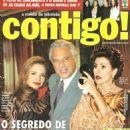 Luiza Tomé, Antônio Fagundes, Cassia  Kiss, Thiago Lacerda, As Filhas da Mãe, Porto dos Milagres - Contigo! Magazine Cover [Brazil] (21 August 2001)