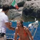 Gwyneth Paltrow in Orange Bikini in Capri - 454 x 681