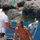 Gwyneth Paltrow in Orange Bikini in Capri