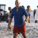 Dwayne Johnson- March 1, 2016-Stars Perform on the Set of 'Baywatch