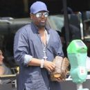 Johnny Gill is spotted out for lunch in Beverly Hills, California on April 6, 2016