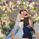 Nick Carter and Lauren Kitt Wedding Pics April 12, 2014 - 454 x 503