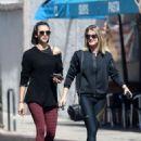 Nina Dobrev – Leaving a dance class with a friend in LA - 454 x 681