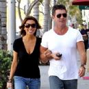 Simon Cowell and Mezhgan Hussainy Out and About