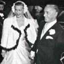 Dina Merrill on her wedding day