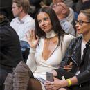 Adriana Lima at Brooklyn Nets vs Los Angeles Lakers at Barclays Center in NY 12/14/ 2016