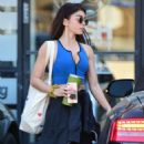 Sarah Hyland in workout gear in Los Angeles