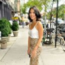 Olivia Munn out promoting in New York City (July 27)