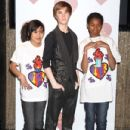 The wax figure os singer Justin Bieber was unveiled at Madame Tussauds Las Vegas at The Venetian Resort Hotel Casino in Las Vegas, Nevada on January 25, 2012