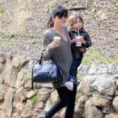 Selma Blair takes her son Arthur for a morning hike in Griffith Park on December 28, 2014 in Los Angeles, California