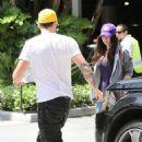 Megan Fox and Brian Austin Green at the LA Lakers game