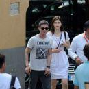 Logan Lerman and Alexandra Dadario out and about at Amafi, Italy (July 20)