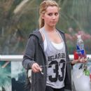 Ashley Tisdale: Arriving at the Equinox gym in West Hollywood