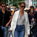 Jamie Chung in Jeans out and about in New York City - 454 x 861