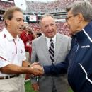 Joe Paterno With Former Florida St, Coach Bobby Bowden (center)