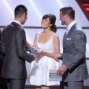 Jessica Biel poses backstage during the 2012 ESPY Awards at Nokia Theatre L.A. Live on July 11, 2012 in Los Angeles