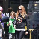 Isla Fisher in Leggings out in Los Angeles May 13, 2017