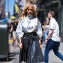 Rita Ora – Wearing a silver Nina Ricci dress in New York City