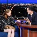 Emma Stone – Visits The Late Show With Stephen Colbert in NY