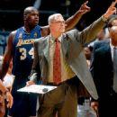 Shaq with Coach Phil Jackson