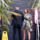 Malin Andersson – Out in her patterned floral dress in Essex - 454 x 548