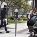 Mandy Moore with her fiancee out in Los Angeles - 454 x 346