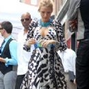 "Blake Lively On The Set Of ""Gossip Girl"" In NYC - July 15, 2010"